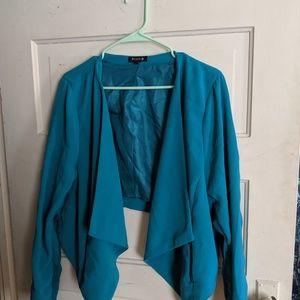 Torrid Plus Size Peacock Blue Deal Blazer